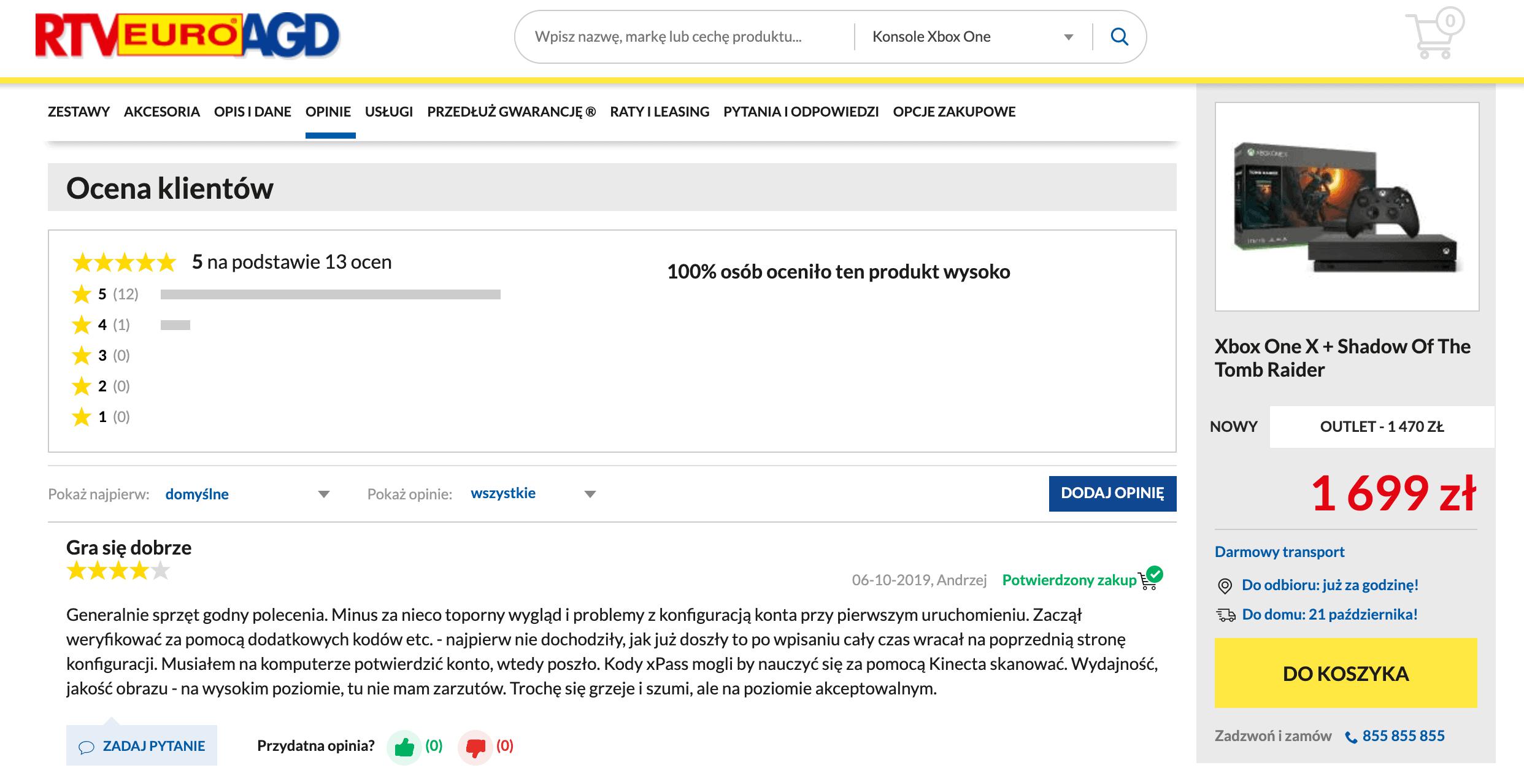 sklep internetowy oceny i recenzje produktów